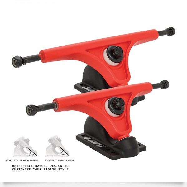 TRUCKS INVERTED 180mm Red Black