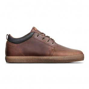 GS CHUKKA Brown Leather Crepe