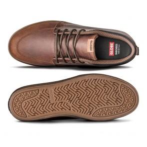 GS CHUKKA Brown Leather Crepe
